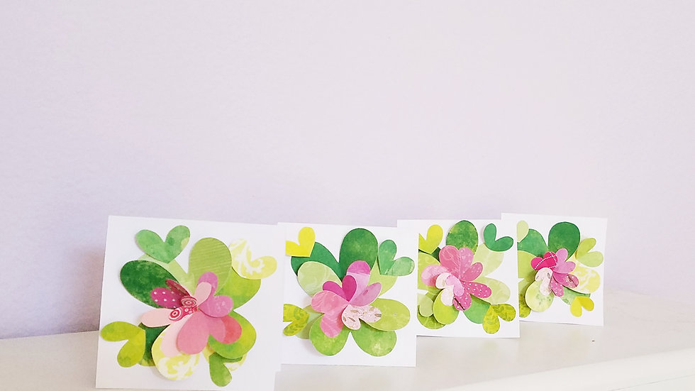 Springtime Feels 2 Notecards (4-pack)