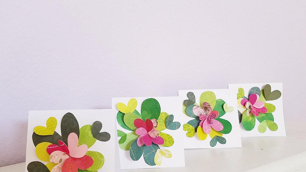 Springtime Feels 4 Notecards (4-pack)