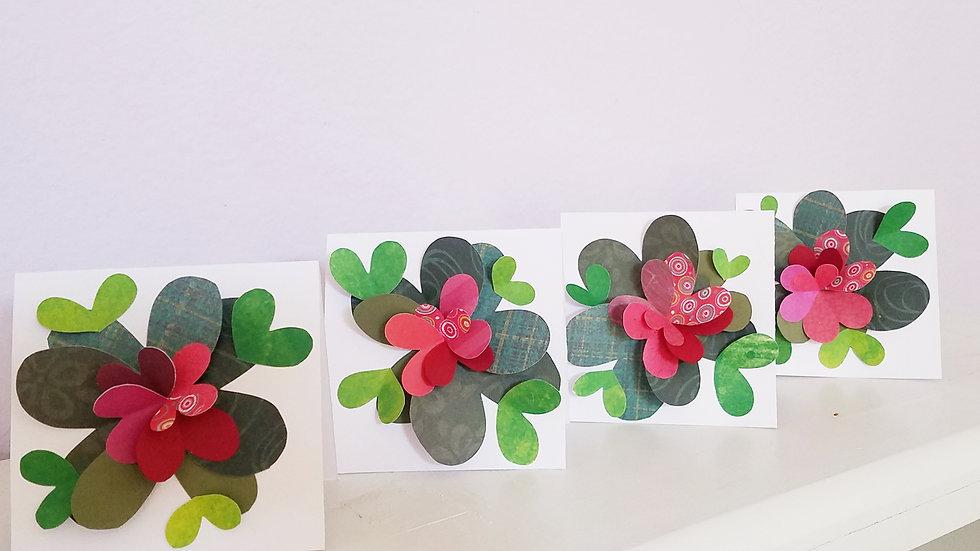 Springtime Feels 5 Notecards (4-pack)