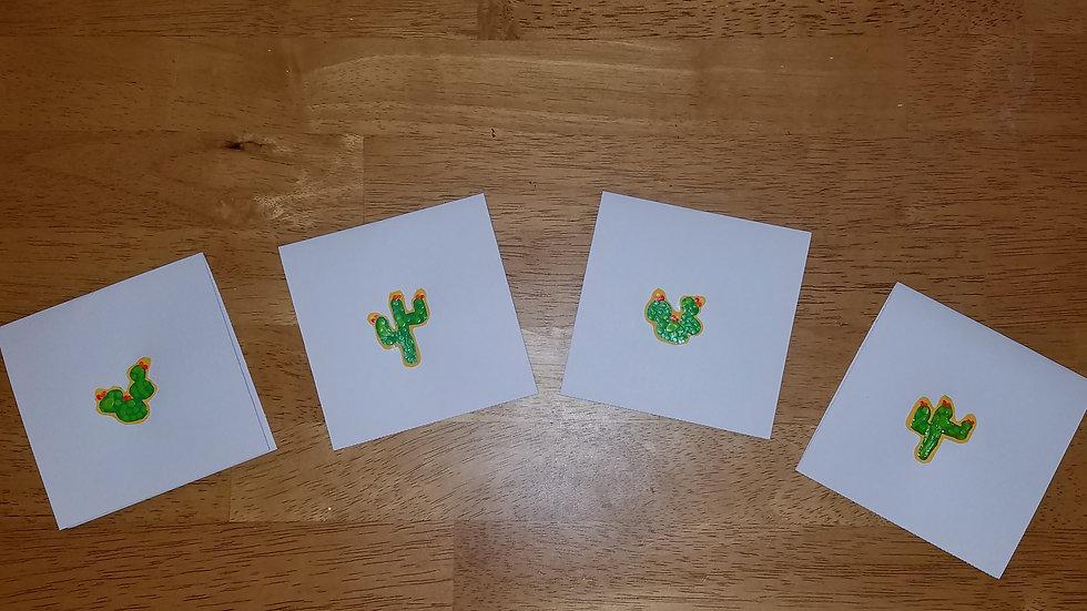 Minimalist Cactii Notecards (4-pack)