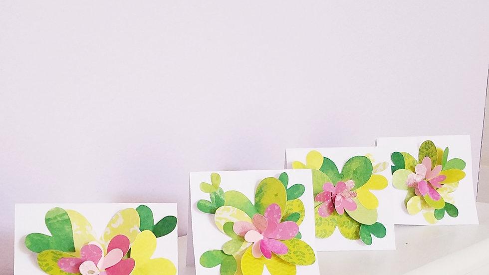 Springtime Feels 1 Notecards (4-pack)