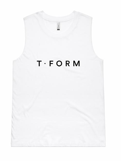 T Form White Tank