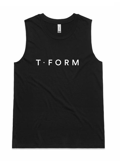T Form Black Tank