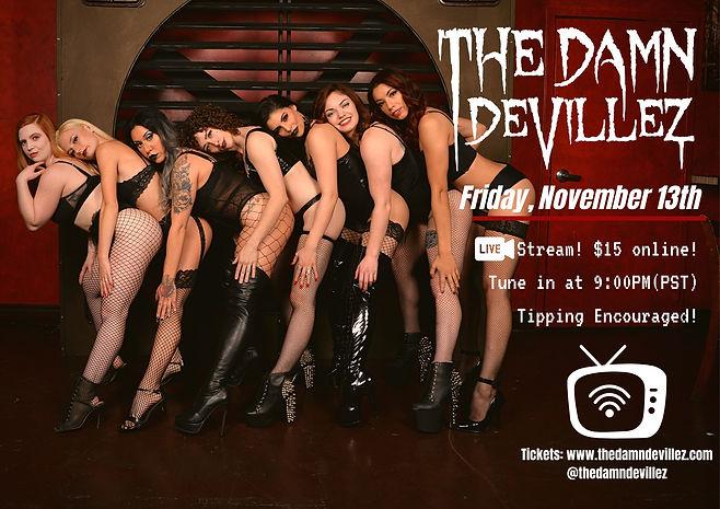 Live Stream Show Flyer November 13th 202