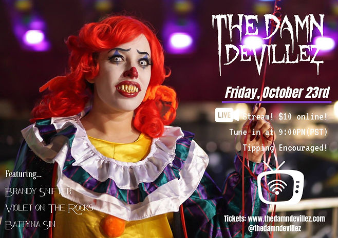 Live Stream Show Flyer October 23rd 2020