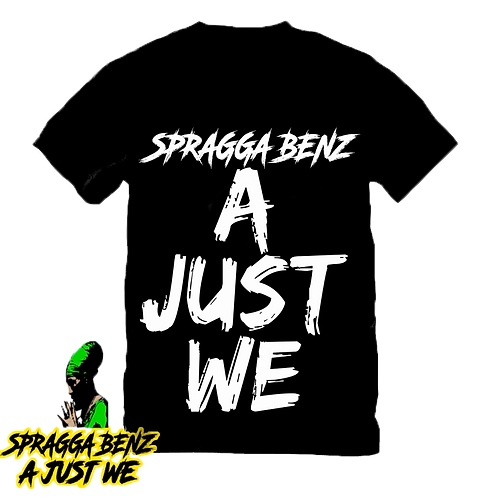 """A Just We"" T-Shirt White & Black"