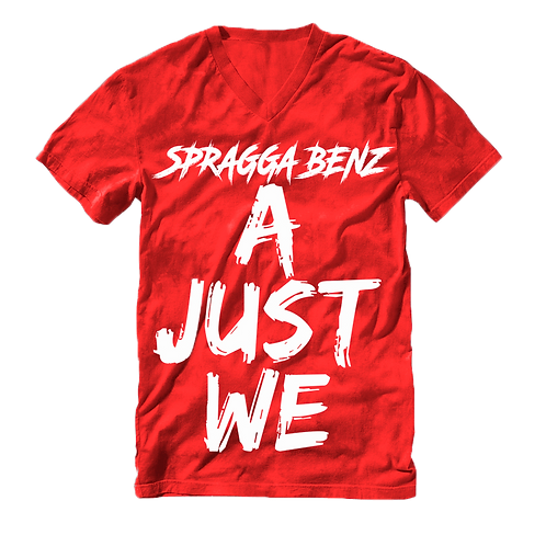 A Just We T-Shirt White & Red