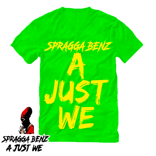 """""""A Just We"""" T-Shirt Yellow & Green"""