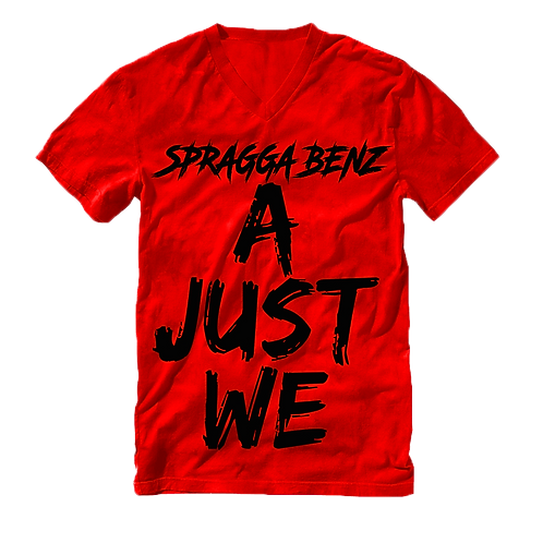 """""""A Just We"""" T-Shirt Black & Red"""