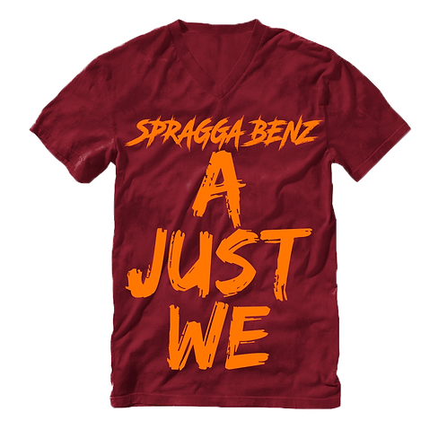 A Just We T-Shirt Orange & Burgundy