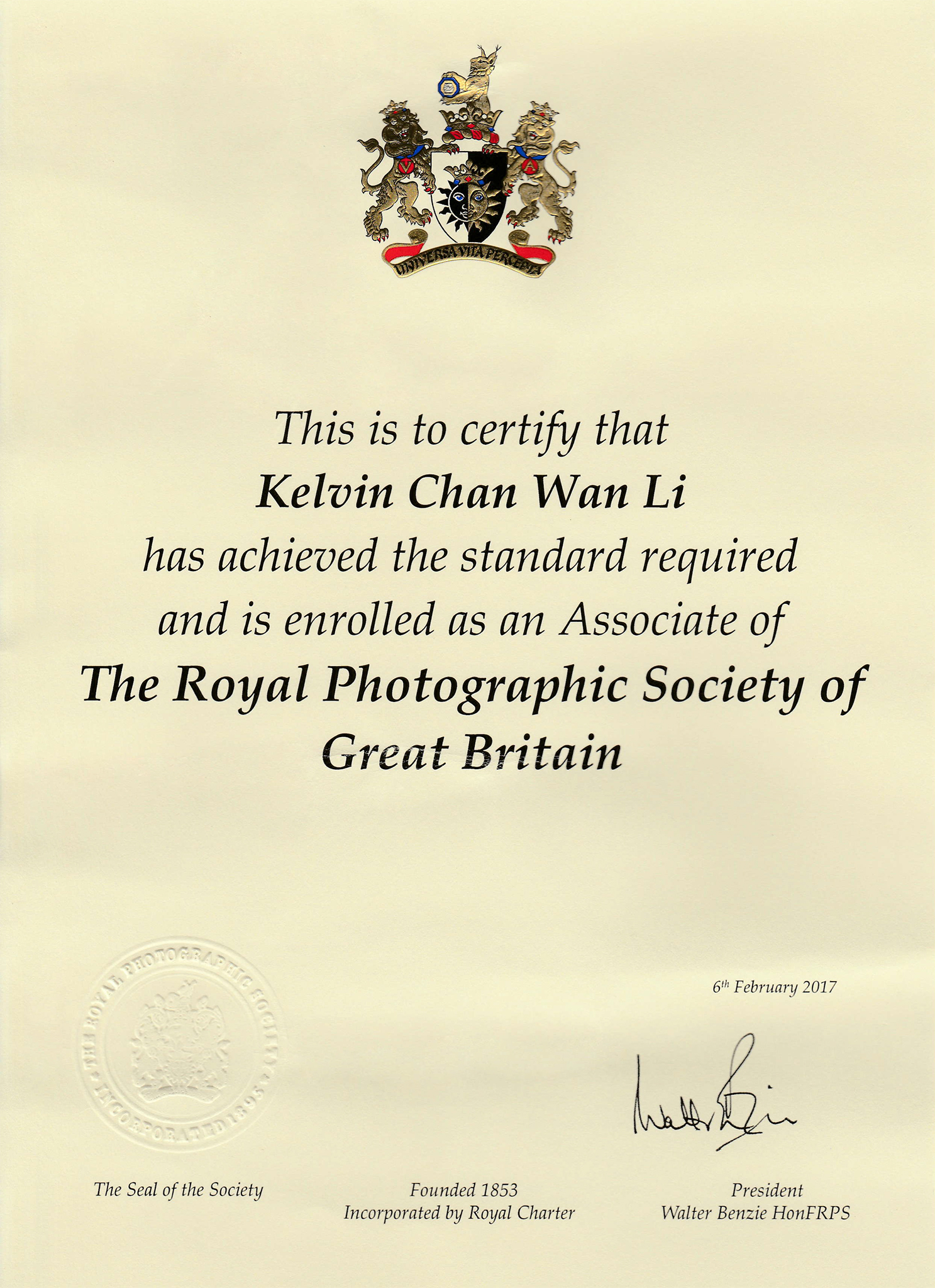 Royal Photographic Society of Great