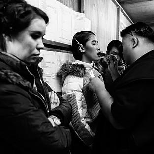 Backstage Fashion Week
