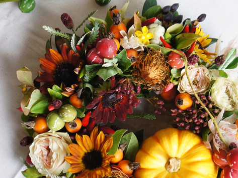 OCTOBER LESSON; private class' HALLOWEEN WREATH '