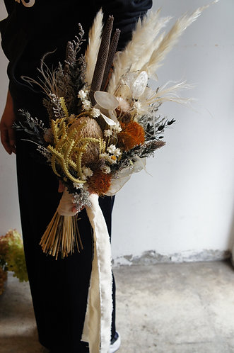 dry wedding bouquet