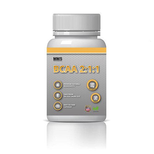 BCAA 2:1:1 500mg Amino Acids Protein Muscle Strength & Power