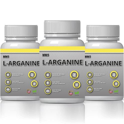 3 X L-Arginine 750 mg  Muscle Growth Nitric Oxide
