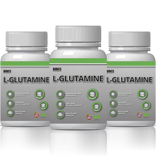 3 X L-Glutamine 800Mg Amino Acids Post Workout Recovery - Vegetarian