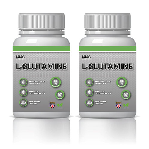 2 x L-Glutamine 800mg Amino Acids Post Workout Recovery - Vegetarian