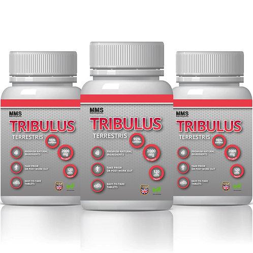 3 X TRIBULUS TERRESTRIS 2000 mg 95% Saponins Improve Men's Sex Drive