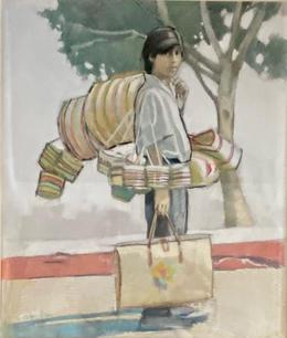 Boy with Baskets by Garry Pound