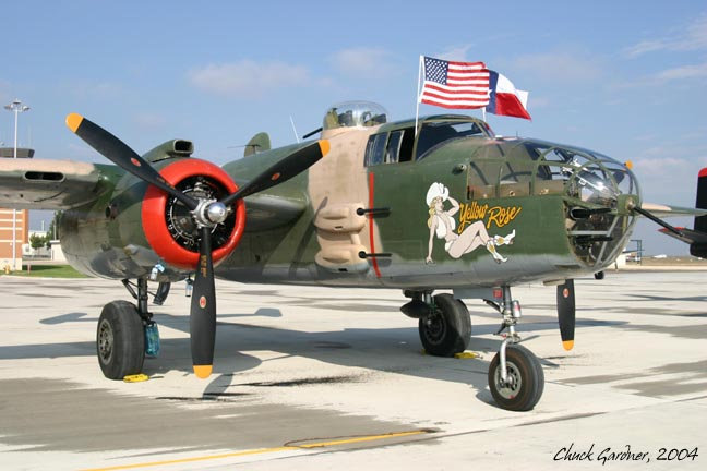 "B-25J 82"" ARF Yellow Rose"