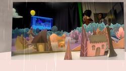 Paper Town VR Unity 3D view