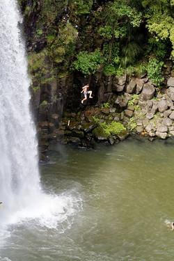 Whangarei falls.jpg Yes.jpg.jpg he jumped.jpg Wife is waiting in the water
