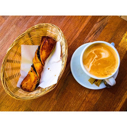 coffee w/ pastry