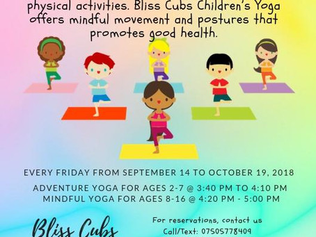 Children's Yoga every Friday!!!