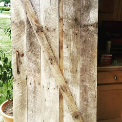 When a friend asks _Can you make me a barn door out of this scrap wood__ An hour later..