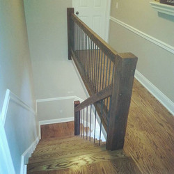 Finished up another custom made reclaimed wood handrail
