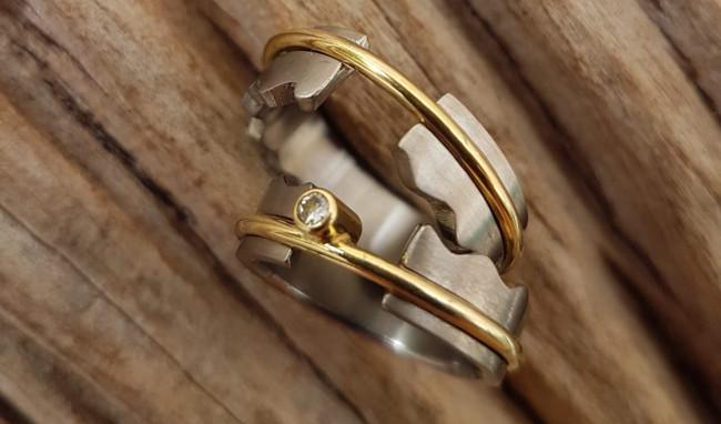 ouro titanio diamante T&B
