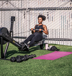 Paisley on the Concept 2 rower