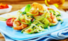 zucchini shrimp warm salad winexpert bur