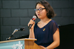 Anna Park doing her presentation