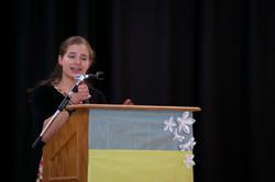 Izzy doing her presentation