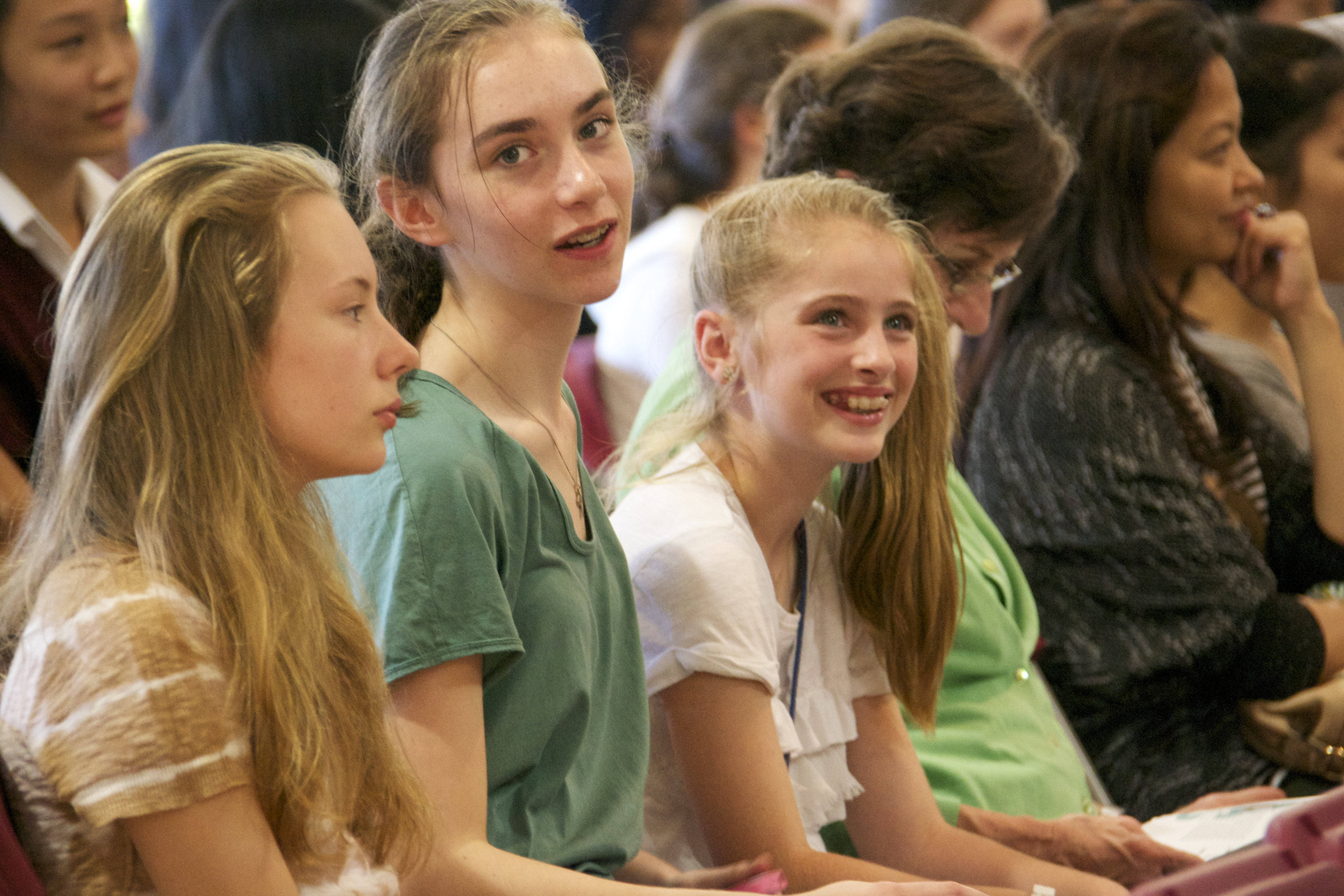 Young women enjoying the conference