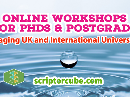 Overview of Our Online PhD & Postgrad Workshops