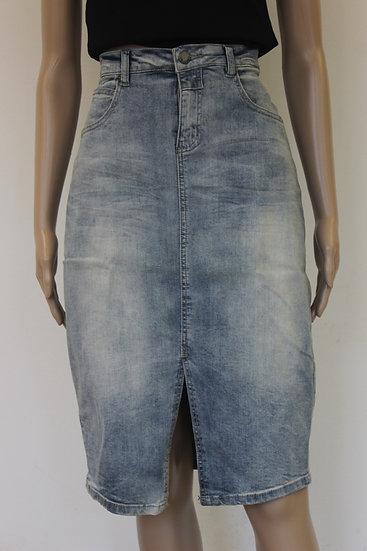 Circle of Trust - blauwe jeansrok, maat M (maat 38/maat 40)