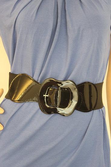 Zwarte elastische riem, maat 36/38