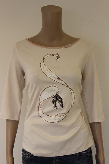 Marc Cain - Lichtroze t-shirt, maat 42/44