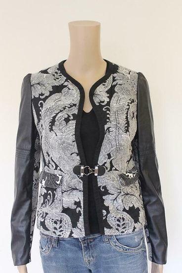 Mariella Rosati zwart/wit jasje maat 36/maat 38