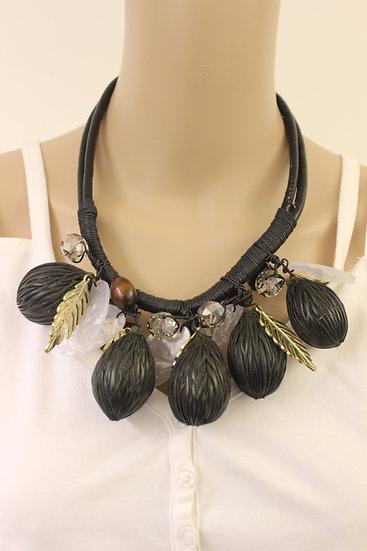 Zwarte/goudkleurige ketting