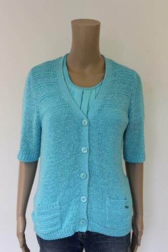 Gollehaug - turquoise vest, maat 38
