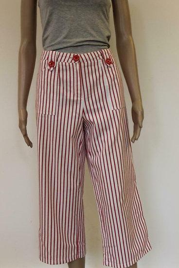 Stehmann - Rood/wit gestreepte broek, maat 40