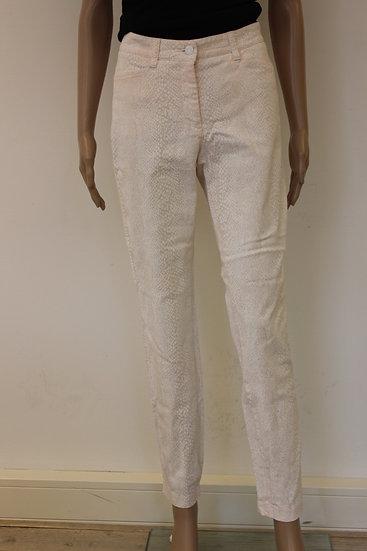 Cambio - Roze/witte broek, maat 40