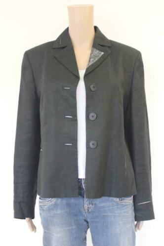 Onimo zwart/grijs linnen jasje maat 42