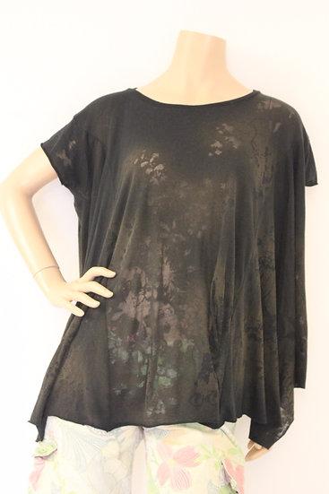 AllSaints - Bruin/zwart T-shirt, maat 38/40
