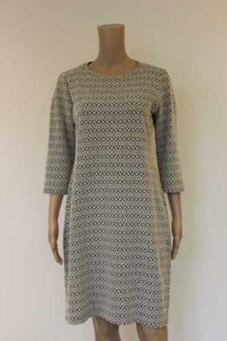 Cadadia zwart/witte jurk maat 42