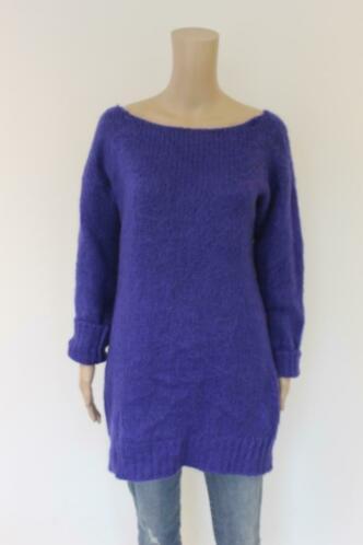 Paolo Casalini paarsblauwe wollen trui maat M (maat 38/40)